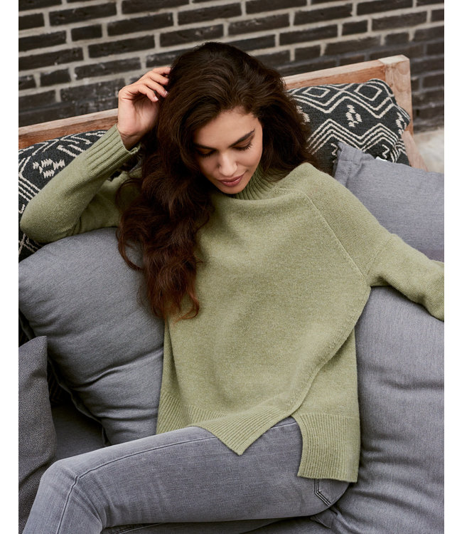 REPEAT cashmere Sweater wasabi wool