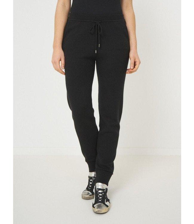 REPEAT cashmere Pants black cotton/viscose