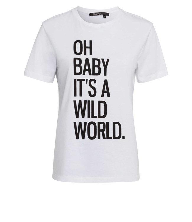 Marc Aurel Shirt white 'wild world'