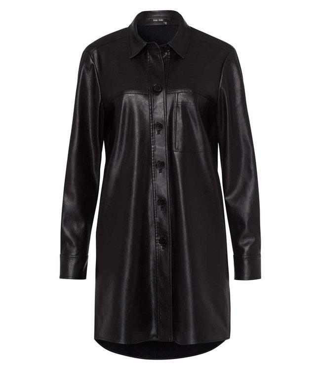 Marc Aurel Vegan leather long blouse black