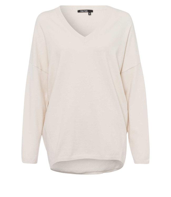 Marc Aurel Sweater V-hals light taupe