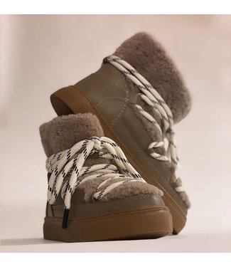 EST'SEVEN Est'Mouton Boots Gurly Fur Simply Taupe