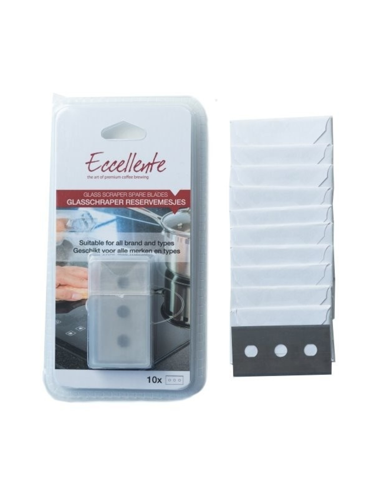 ECCELLENTE Glasschraper Reservemesjes - 10 stuks