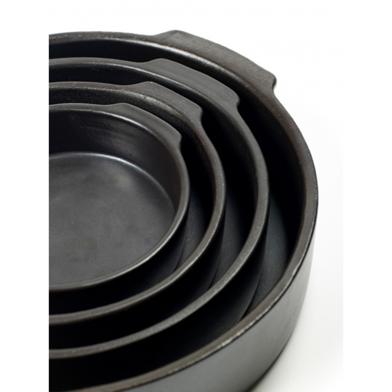 Pascale Naessens collection Pure Ovenschaal zwart rond