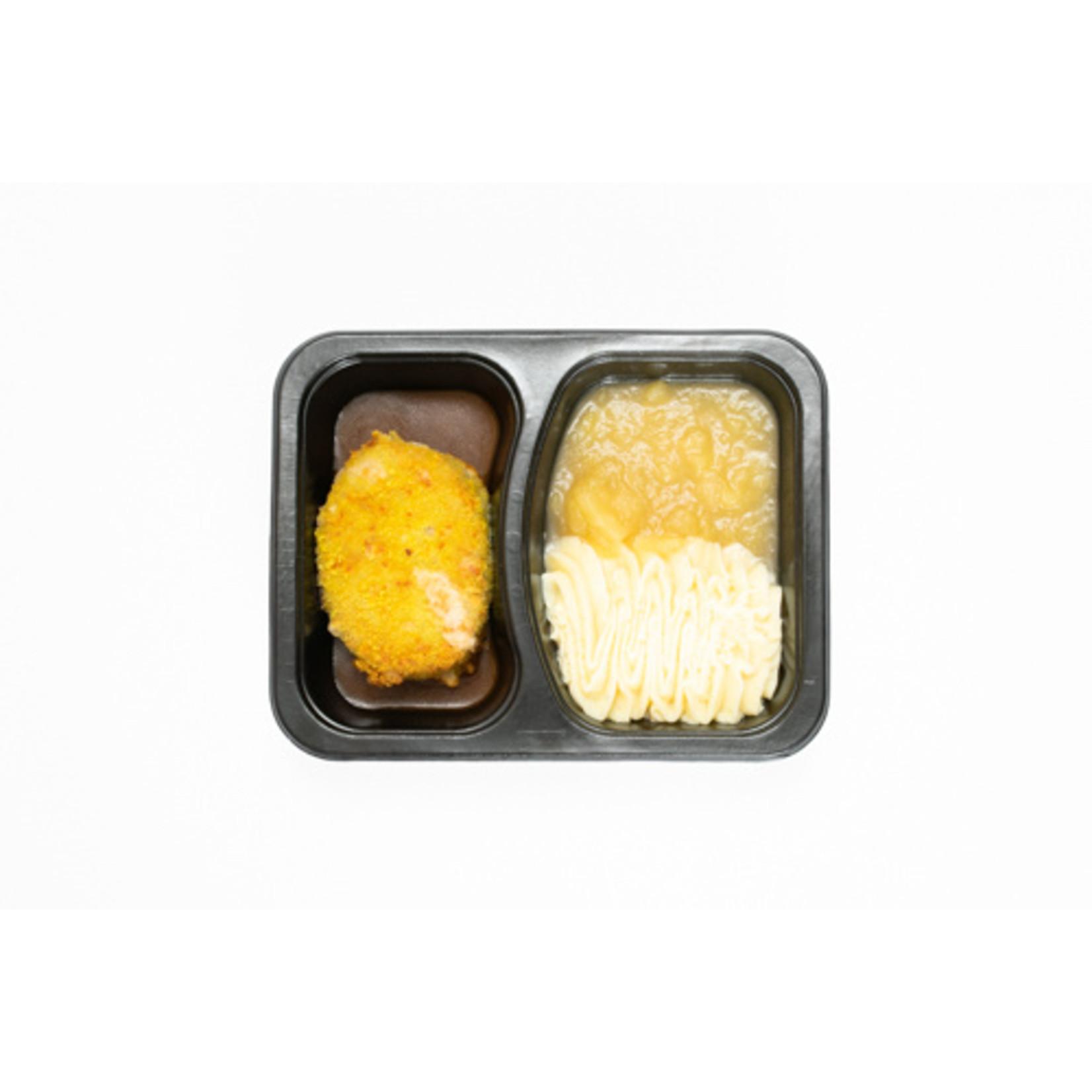 Zwitserse Schijf met Appelmoes en Puree