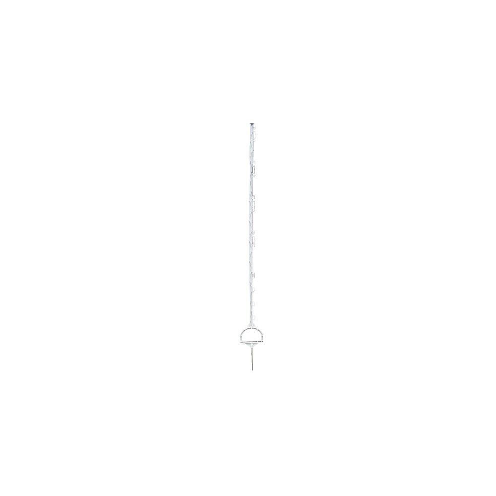 INTELLISHOCK Piquet plastique blanc avec etrier 157 cm 10 œillets par 20