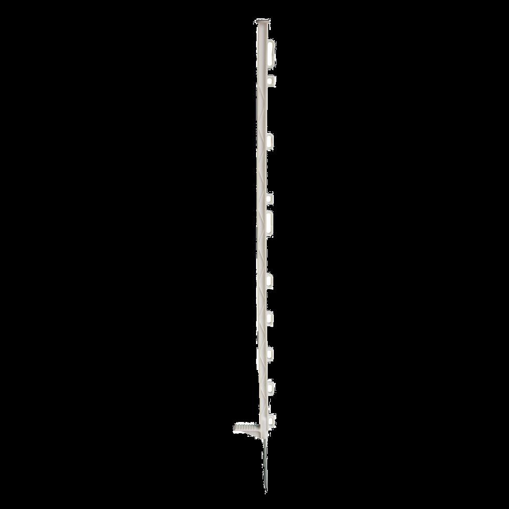 INTELLISHOCK Piquet plastique standard  104 cm blanc 10 œillets par 10