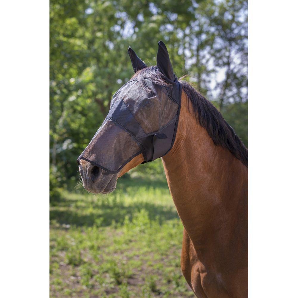 EQUITHEME Masque  anti-mouche EQUITHEME confort cheval noir