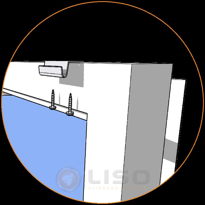 Vliegengordijn        Liso  - Plafondsteuntjes