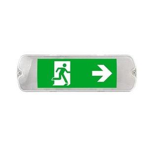 EM - Kosnic Mulu LED opbouw noodverlichting wit, vluchtwegverlichting en anti-paniekverlichting, 5W