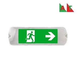 EM - Kosnic Mulu LED opbouw noodverlichting wit, vluchtwegverlichting en anti-paniekverlichting, 5W met zelftest