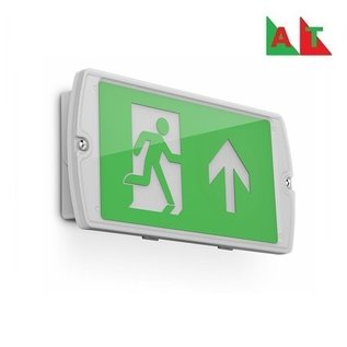 EM - Kosnic Manot LED opbouw noodverlichting wit, vluchtwegverlichting en anti-paniekverlichting, 6W met zelftest