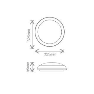 EM - Kosnic Polo LED, 11W, 4000K, trappenhuis en halverlichting (optie: met bewegingssensor ON/OFF of ON/DIM en lichtsensor)