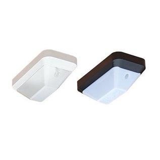 KTP Eco-Plus LED 2,2W, portiek/galerijverlichting, 3000 of 4000K, wit/zwart en opaal/helder-frosted (optie: met bewegingssensor ON/OFF en/of lichtsensor)