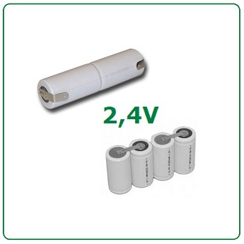 2,4V batterijen