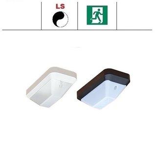 KTP Eco-Plus LED 4,2W, portiek/galerij noodverlichting, 3000 of 4000K, wit/zwart en opaal/helder-frosted (optie: met bewegingssensor en/of lichtsensor)
