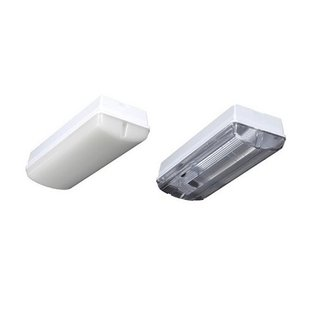KTP Eco-Plus LED 4,2W, portiek/galerijverlichting, 3000 of 4000K, wit/zwart en opaal/helder-frosted (optie: met bewegingssensor ON/OFF en/of lichtsensor) - Copy