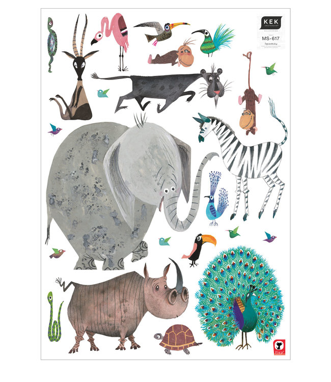 Fiep Westendorp muurstickers Animals XL, 85 x 119 cm