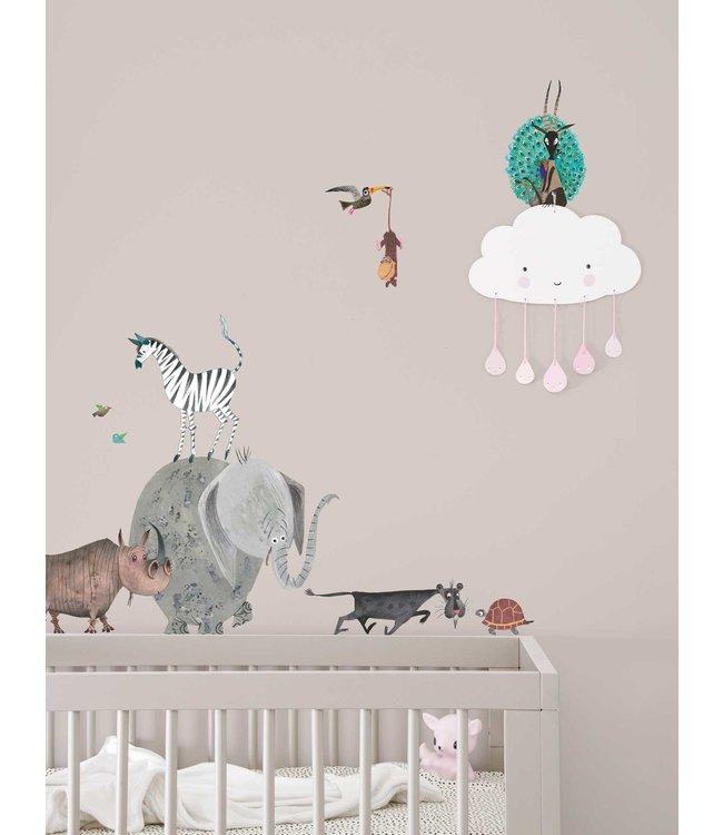 Fiep Westendorp muurstickers Animals, 42 x 59 cm