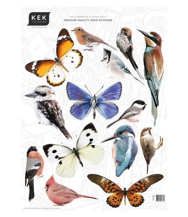 Set muurstickers Birds & Butterflies, 42 x 59 cm