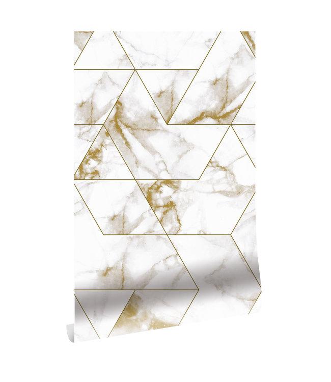 Wallpaper Marble Mosaic, 97.4 x 280 cm