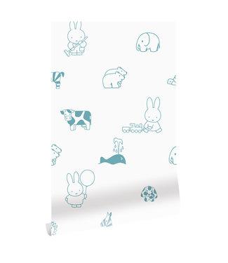 Wallpaper Miffy Animals, 97.4 x 280 cm