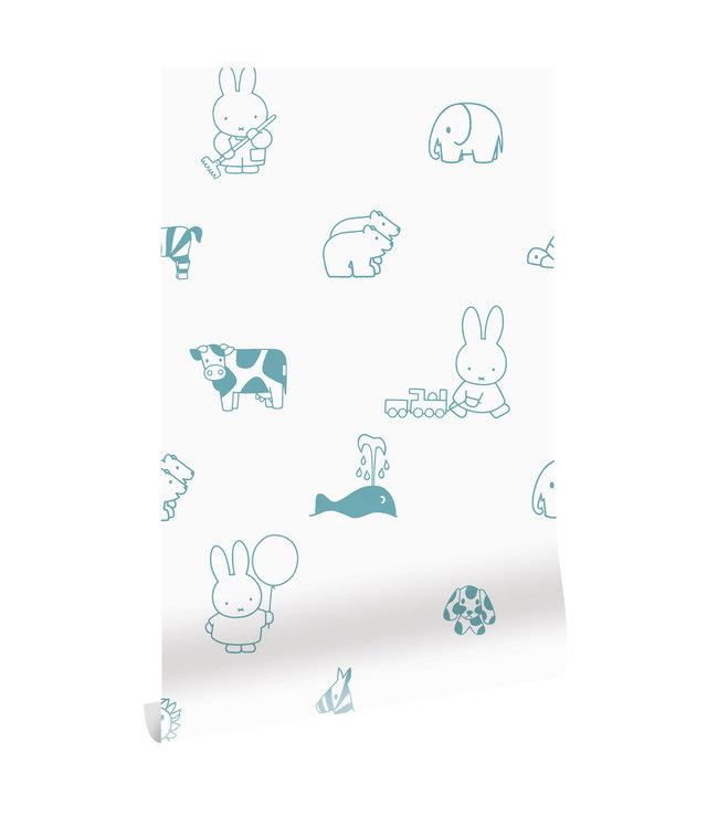 Behang Nijntje Animals, 97.4 x 280 cm