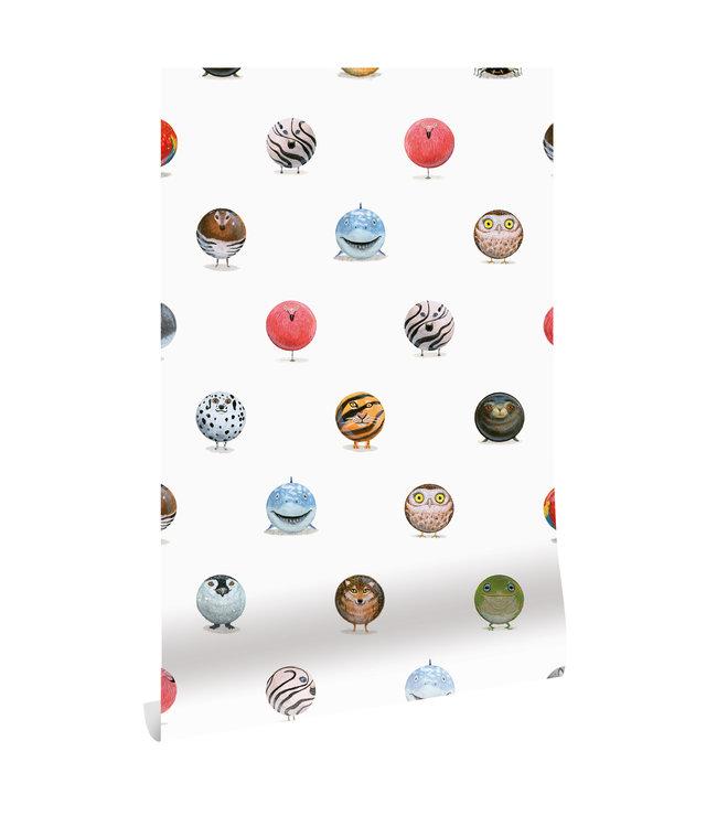 Behang Animal Marbles, 97.4 x 280 cm