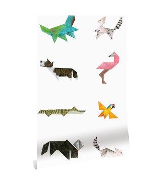 Behang Tangram Animals, 97.4 x 280 cm