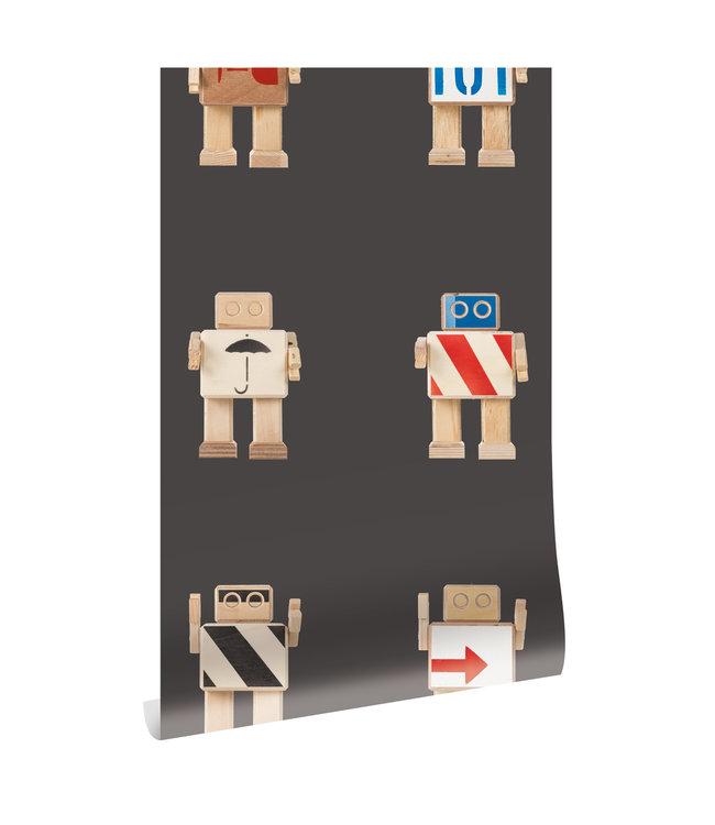 Behang Rijkswachters, Zwart, 97.4 x 280 cm