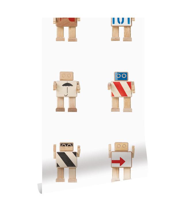 Behang Rijkswachters, Wit, 97.4 x 280 cm