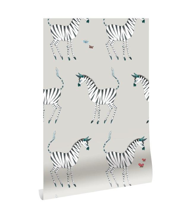 Behang Fiep Westendorp Zebra, Grijs, 97.4 x 280 cm