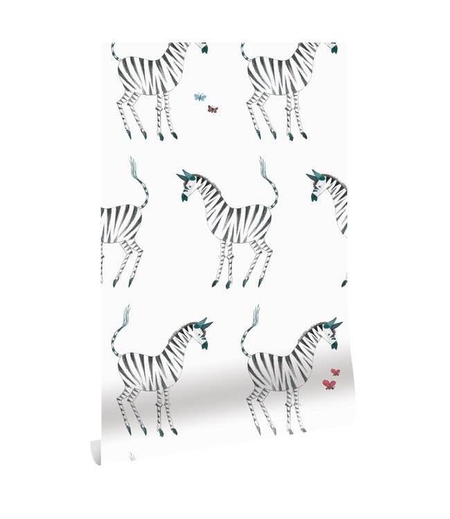 Wallpaper Fiep Westendorp Zebra, White, 97.4 x 280 cm