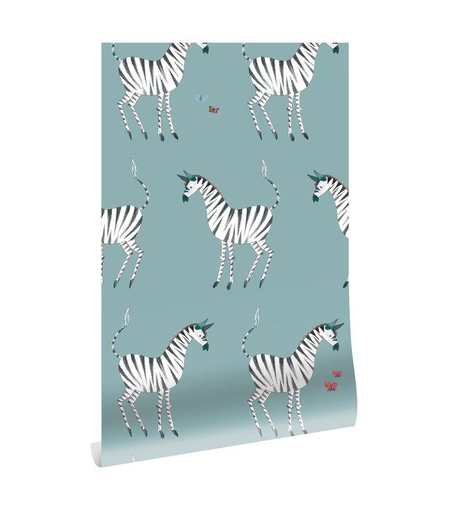 Wallpaper Fiep Westendorp Zebra, Petrol, 97.4 x 280 cm