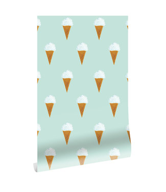 Wallpaper Fiep Westendorp Ice cream, Mint, 97.4 x 280 cm