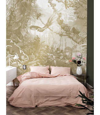 Gold metallic wall mural Tropical Landscapes