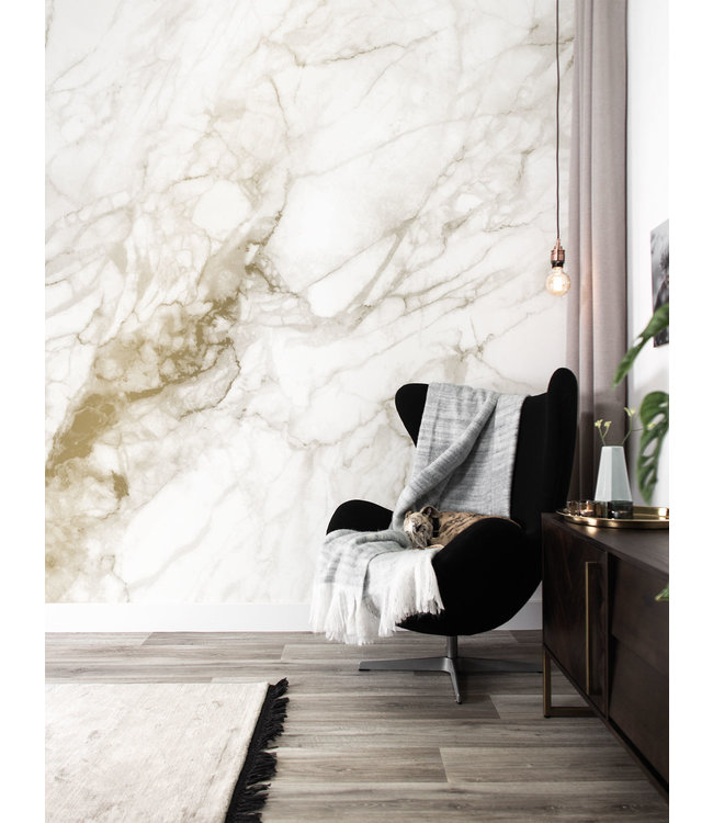 Gold-Tapete Marble
