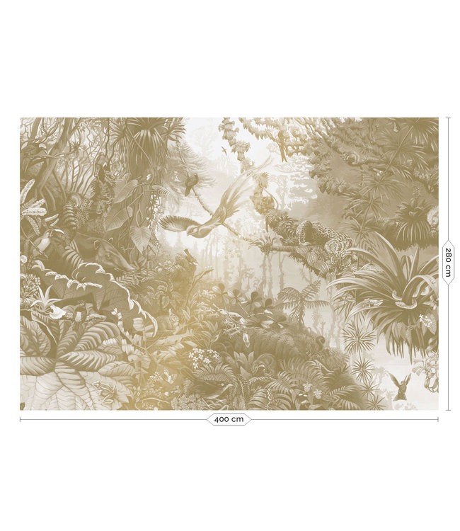 Gold-Tapete Tropical Landscapes
