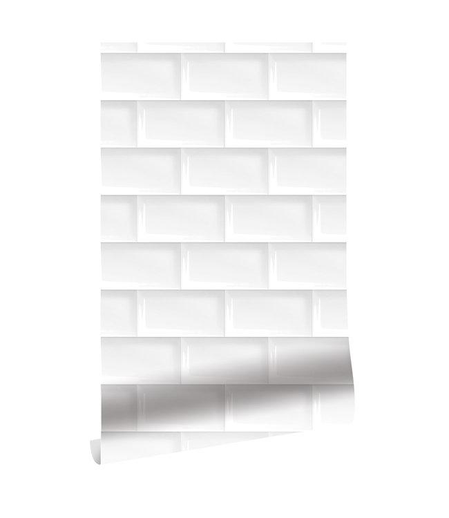 Wallpaper Subway Tiles, 146.1 x 280 cm