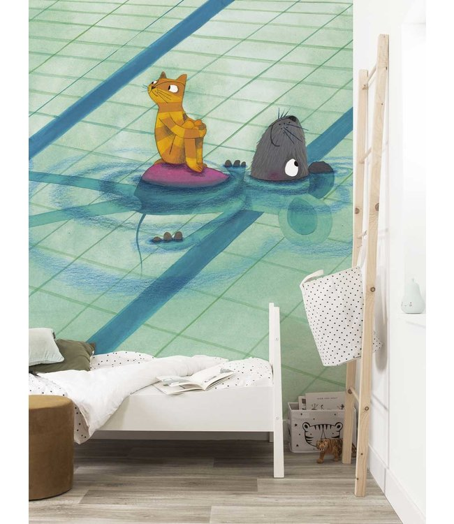 Wall Mural Swimming Lesson, 389.6 x 280 cm