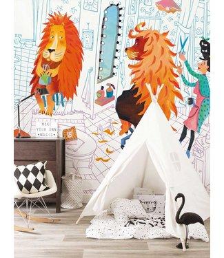 Fotobehang Lion's Haircut, 389.6 x 280 cm