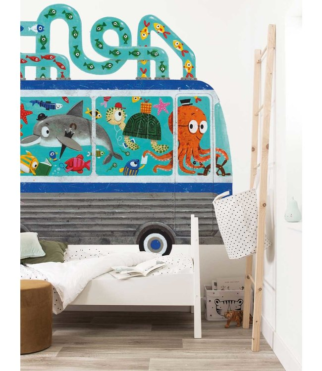 Wall Mural Octobus, 389.6 x 280 cm