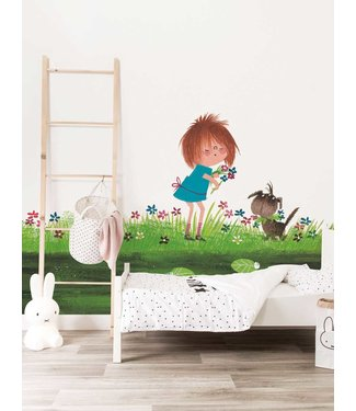 Wall Mural Picking Flowers, 292.2 x 280 cm