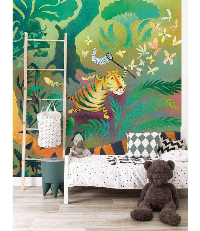 Wall Mural Hunting Tiger, 292.2 x 280 cm
