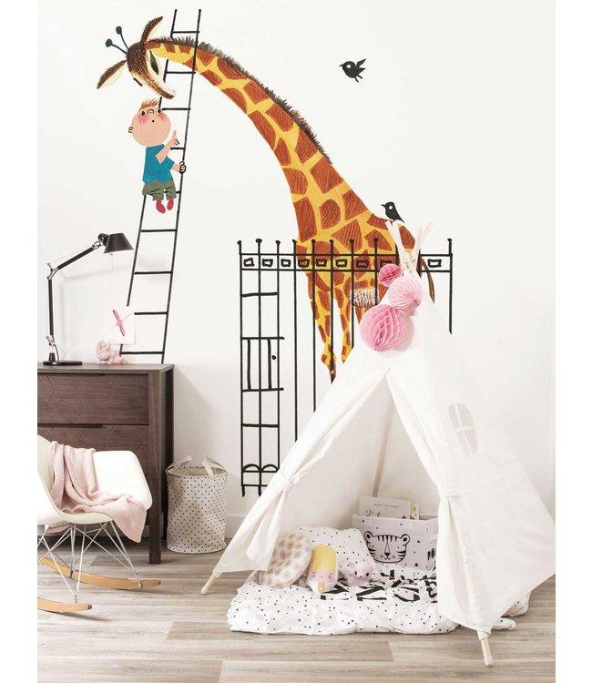 Fotobehang Giant Giraffe, 243.5 x 280 cm