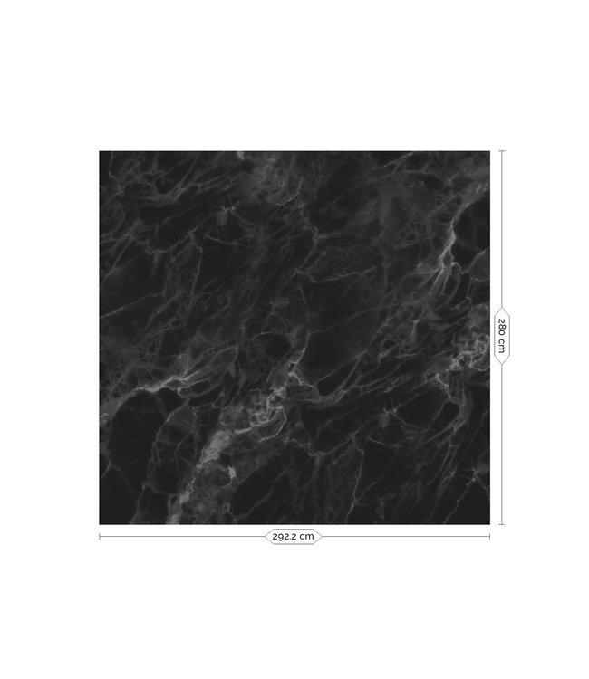 Fotobehang Marble, Zwart