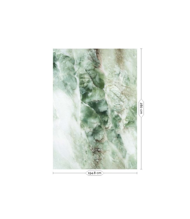Wall Mural Marble, Green