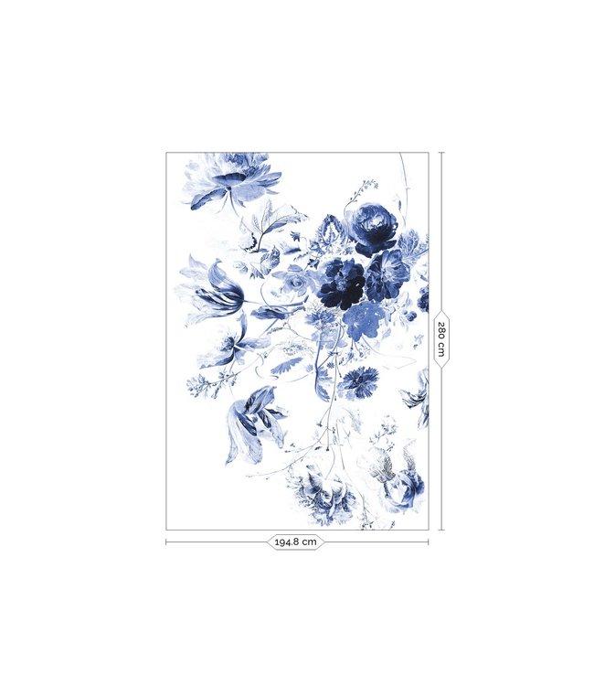 Fotobehang Royal Blue Flowers