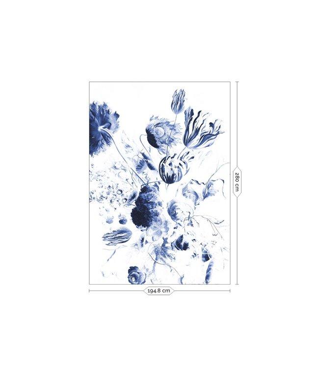 Fototapete Royal Blue Flowers