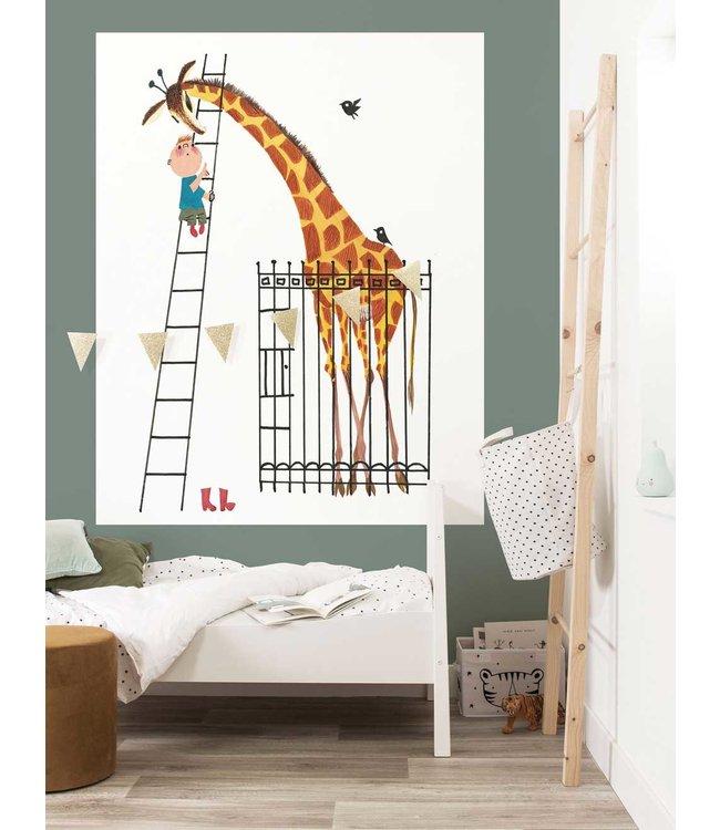 Behangpaneel Giant Giraffe, 142.5 x 180 cm
